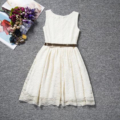 Flower Lace Kids Girls Dress for We..