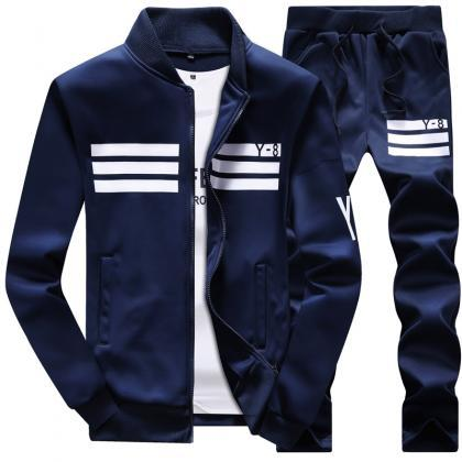 Mens Tracksuit Set Plus Size Stand ..