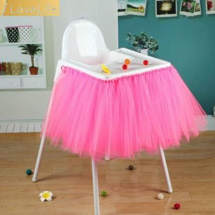Tutu Tulle Table Skirts High Chair ..
