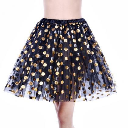 Adult Tutu Skirt Sequin Gilding Pol..