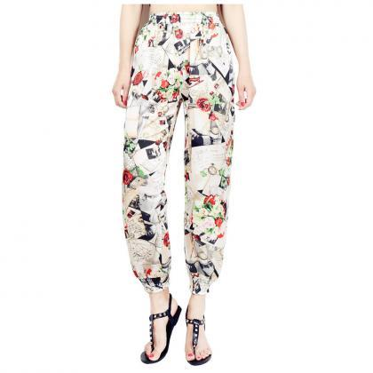 Women Harem Pants Summer Beach Elas..