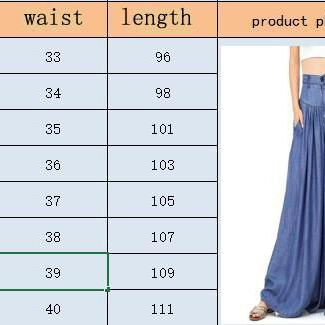 Women Wide Leg Pants High Waist Poc..