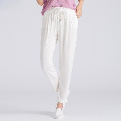 Women Casual Harem Pants Drawstrin..