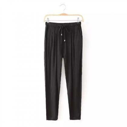 Women Casual Harem Pants Drawstring..
