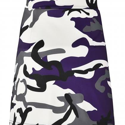 Women Camouflage Mini Skirt Front Z..