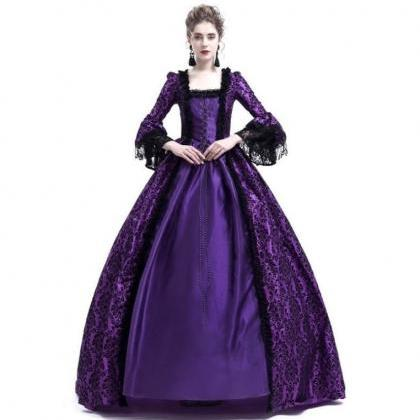 Women Medieval Princess Costumes Ce..