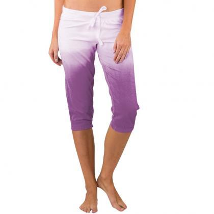 Women Gradient Color Cropped Pants ..