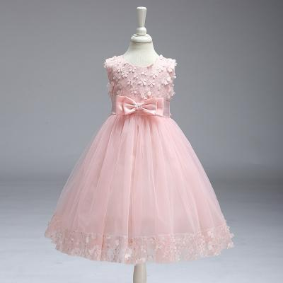 Flower Girl Dresses for Wedding Pageant First Holy Lace Communion Dress Kids Children Clothes Teens A Line Dress pink