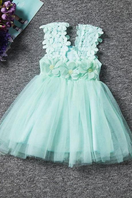 Baby Girl Dress Summer Lace Strap Children Kids Toddler Clothes Princess Lovely Party Dress For Girls Ceremonies Birthday