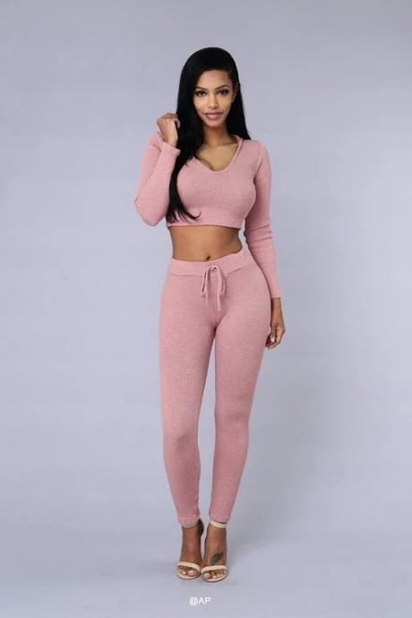 Women Tracksuits Sport Suits Sweatshirt and Pants Hoodie Gym Fitness Cappa Jogging Suits Ladies Clothing pink